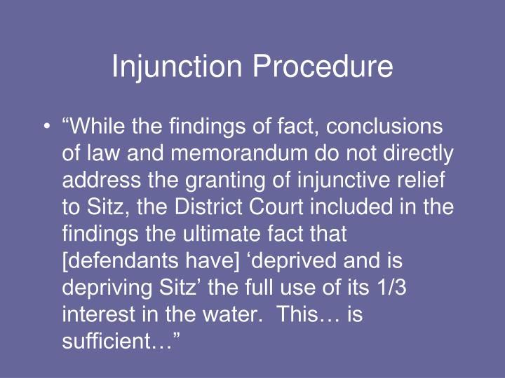 Injunction Procedure