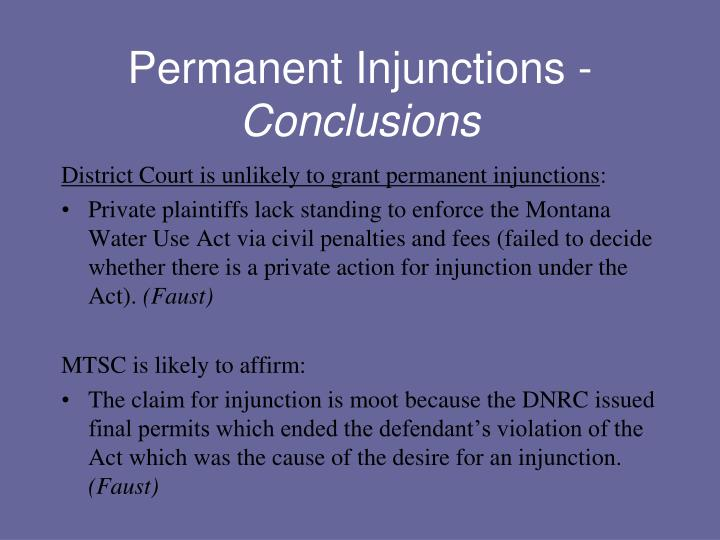Permanent Injunctions -