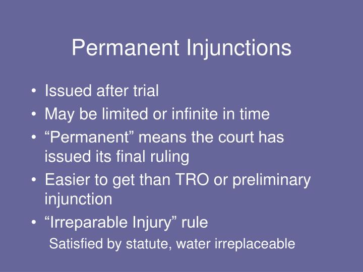 Permanent Injunctions