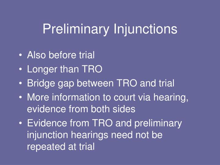 Preliminary Injunctions