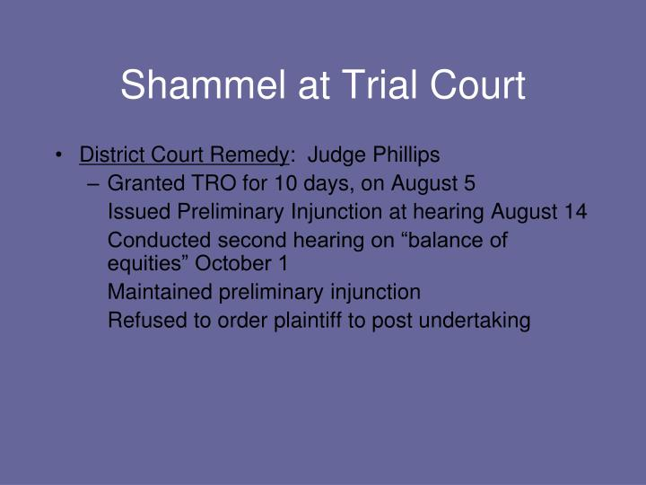 Shammel at Trial Court