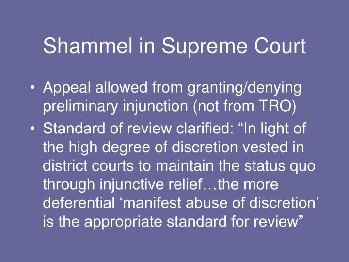 Shammel in Supreme Court