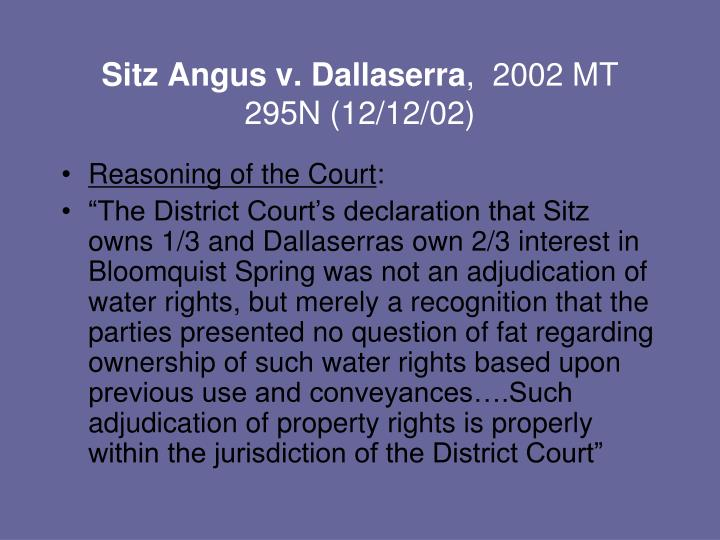 Sitz Angus v. Dallaserra