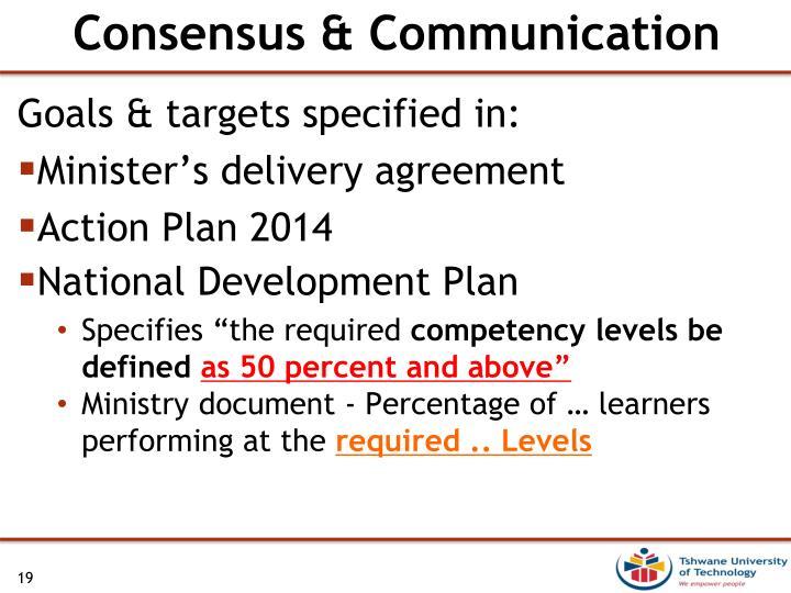 Consensus & Communication