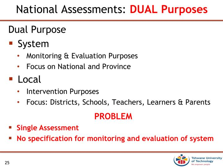 National Assessments: