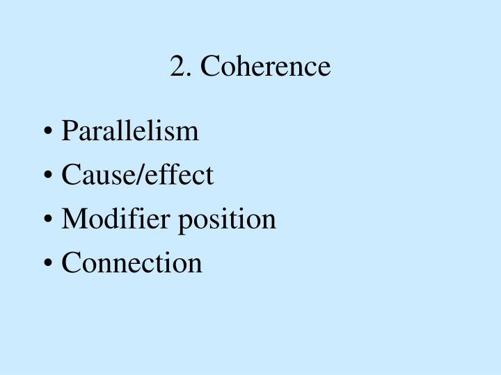 2. Coherence