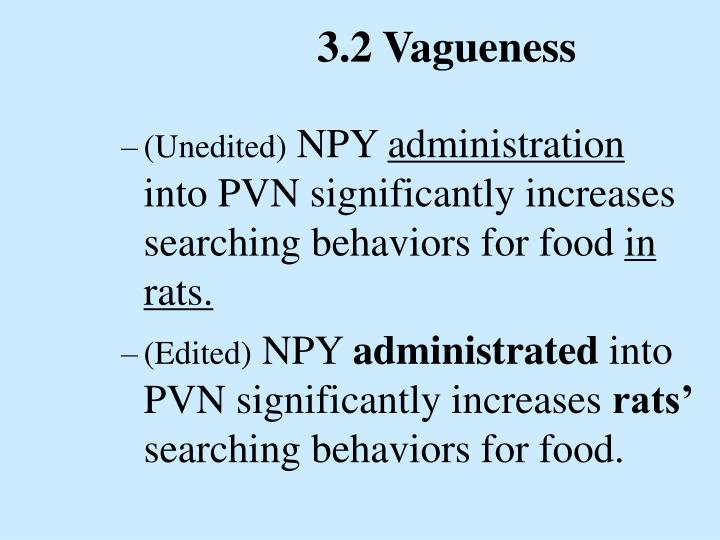 3.2 Vagueness