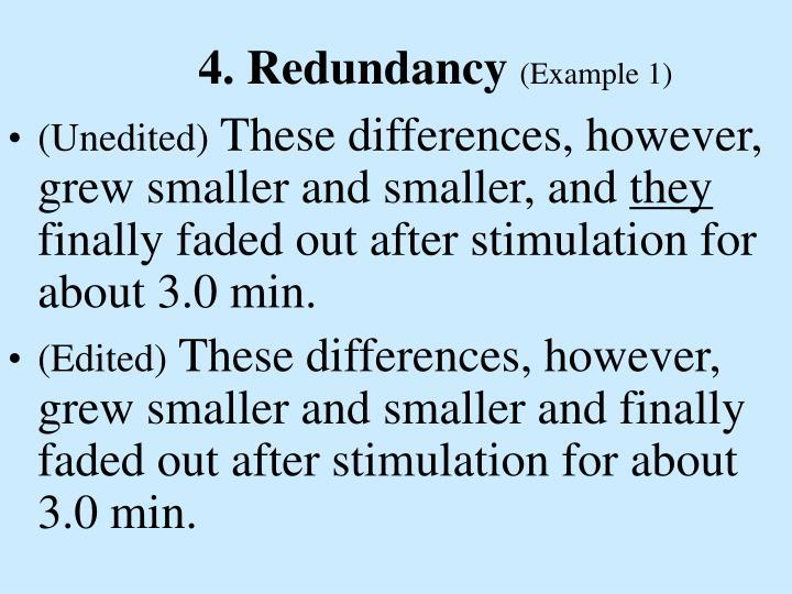 4. Redundancy