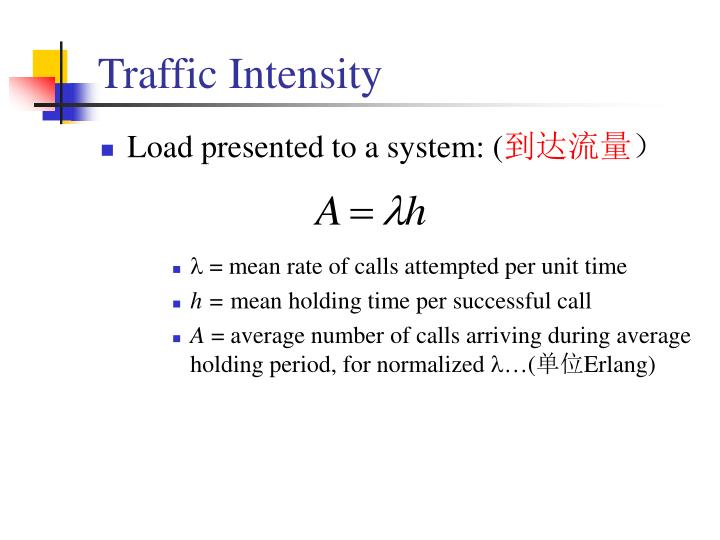 Traffic Intensity