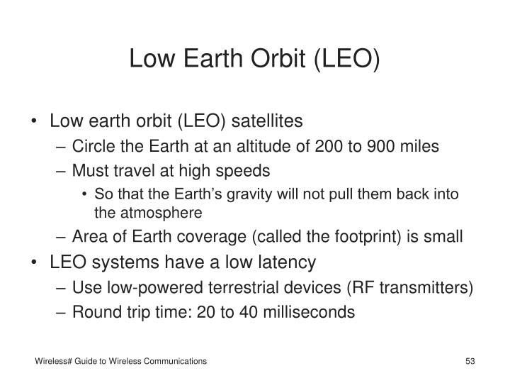 Low Earth Orbit (LEO)