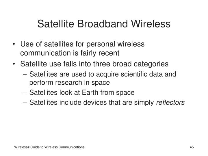 Satellite Broadband Wireless