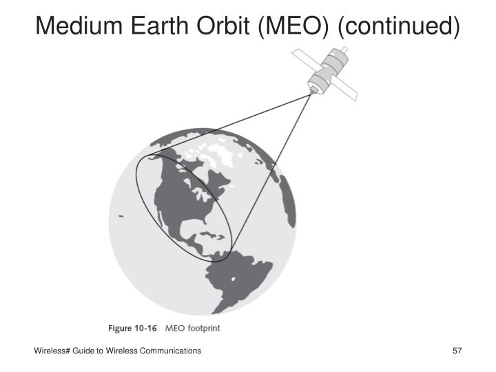 Medium Earth Orbit (MEO) (continued)