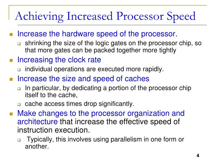 Achieving Increased Processor Speed