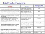 intel cache evolution