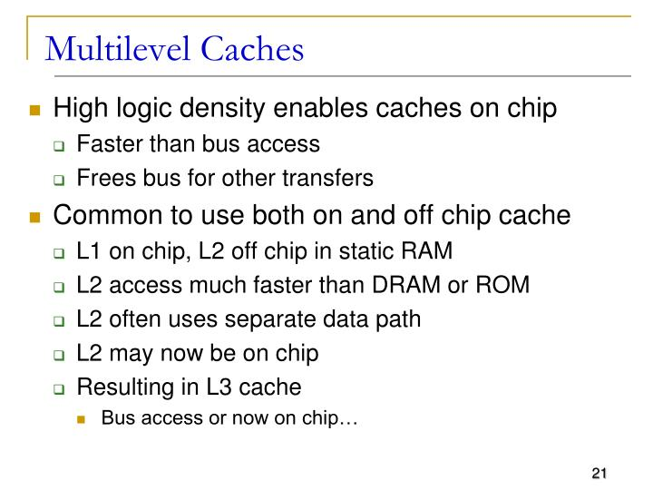 Multilevel Caches