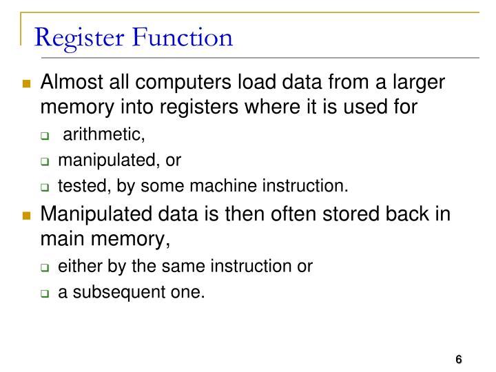 Register Function
