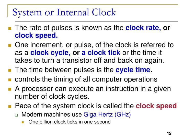 System or Internal Clock