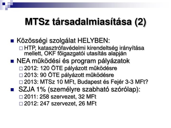 MTSz társadalmiasítása (2)