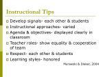 instructional tips
