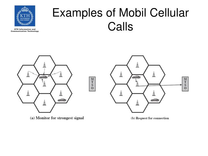 Examples of Mobil Cellular Calls
