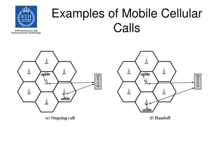 Examples of Mobile Cellular Calls