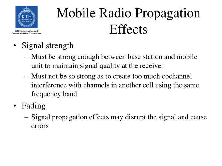 Mobile Radio Propagation Effects