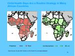 child health days are a routine strategy in many african countries