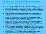young child survival and development1