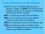 young child survival development