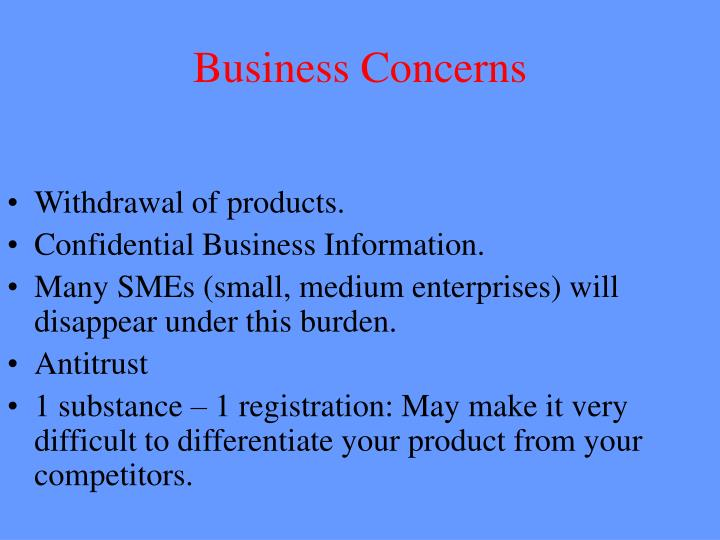 Business Concerns