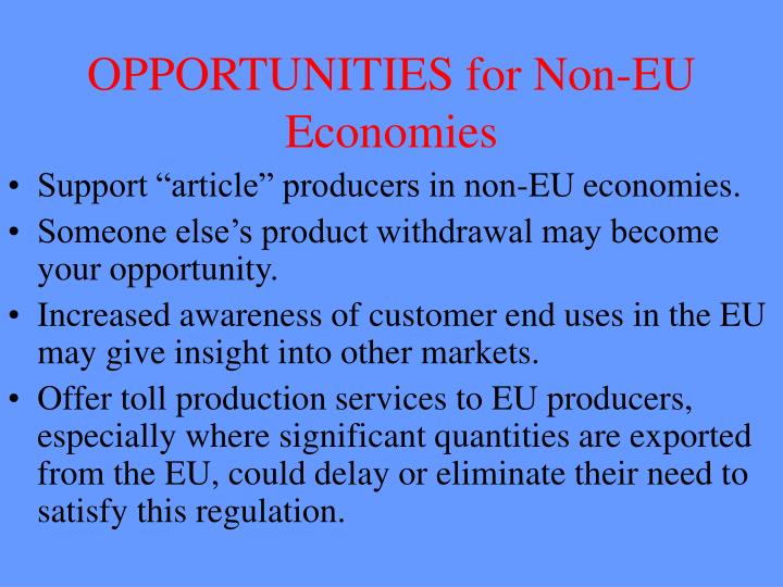 OPPORTUNITIES for Non-EU Economies