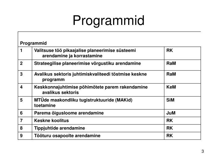Programmid