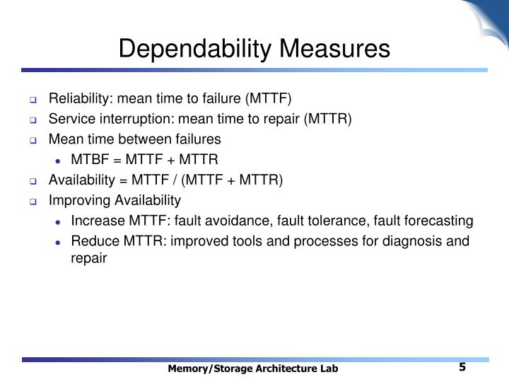 Dependability Measures