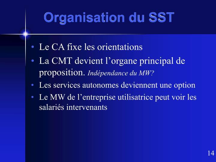 Organisation du SST
