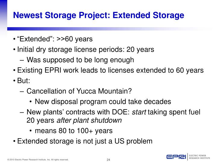 Newest Storage Project: Extended Storage