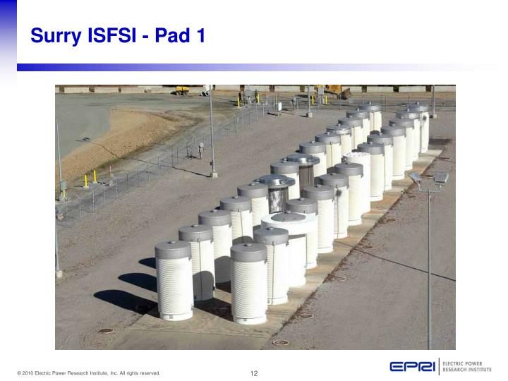 Surry ISFSI - Pad 1