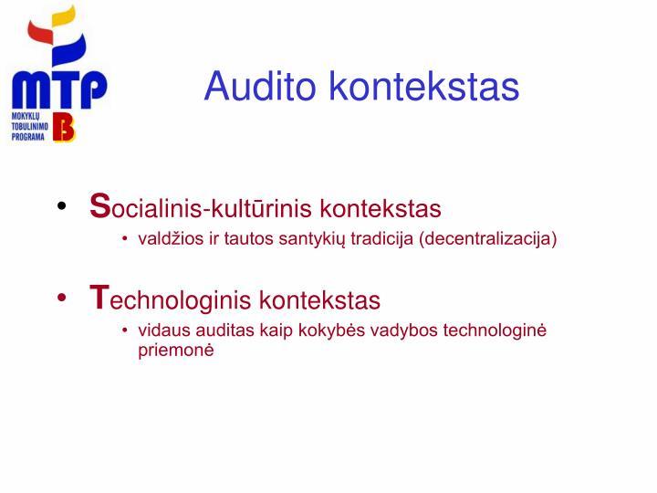 Audito kontekstas