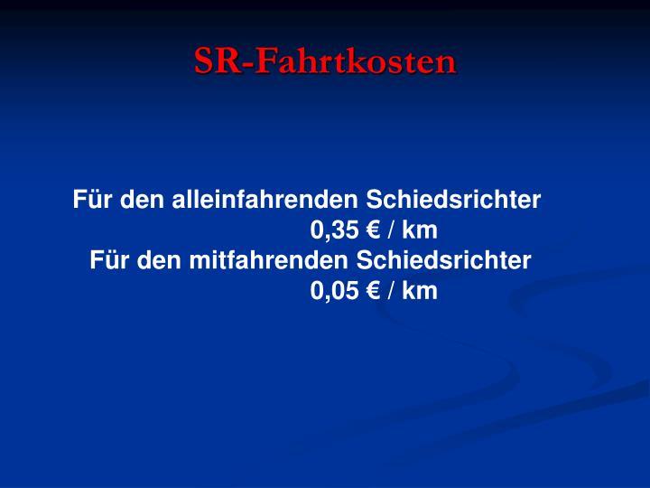SR-Fahrtkosten
