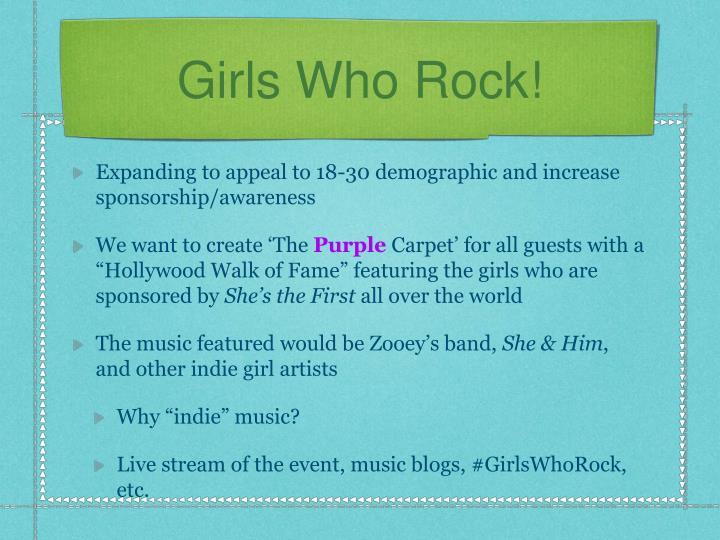 Girls Who Rock!