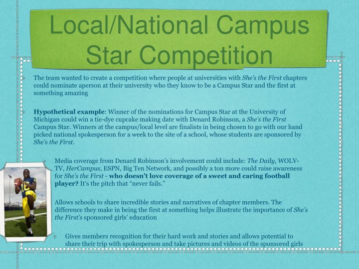 Local/National Campus Star Competition