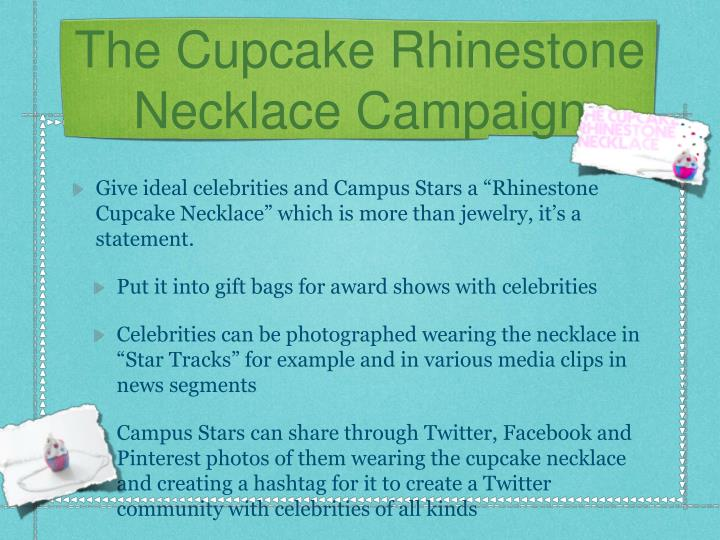 The Cupcake Rhinestone Necklace Campaign