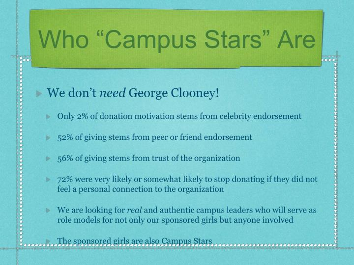 "Who ""Campus Stars"" Are"