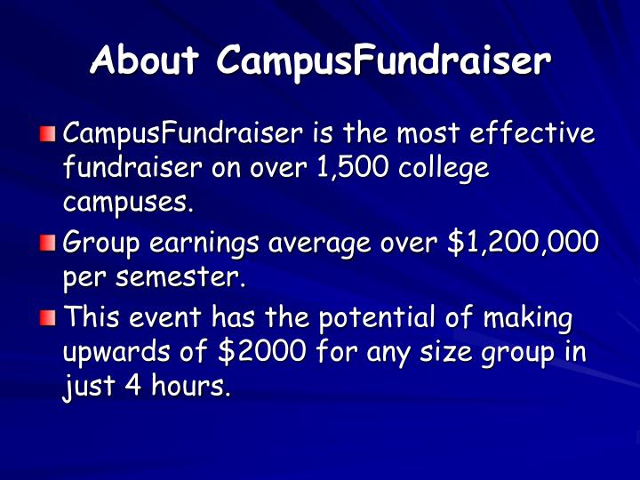 About CampusFundraiser