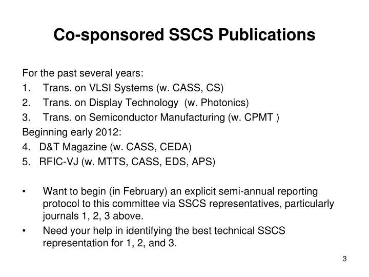 Co-sponsored SSCS Publications