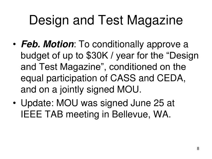 Design and Test Magazine