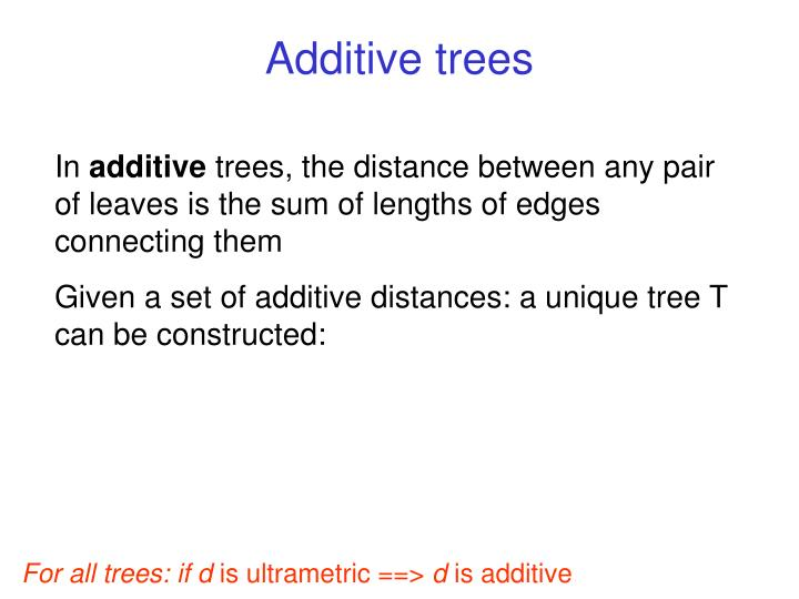 Additive trees