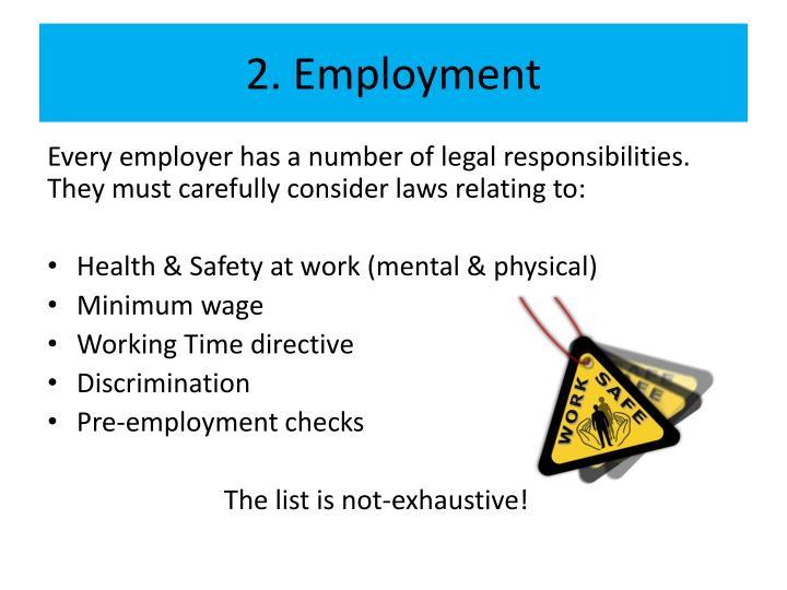 2. Employment