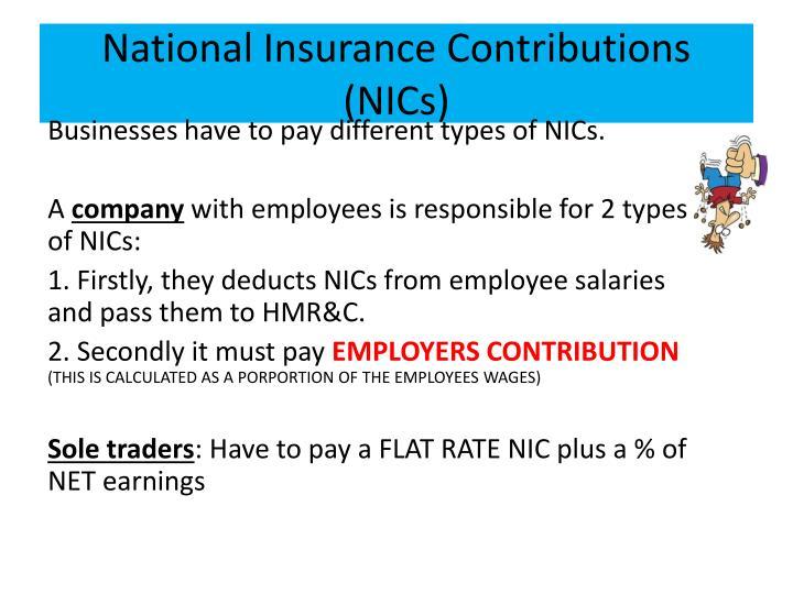 National Insurance Contributions (NICs)