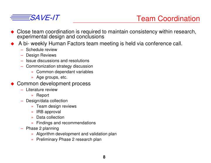 Team Coordination