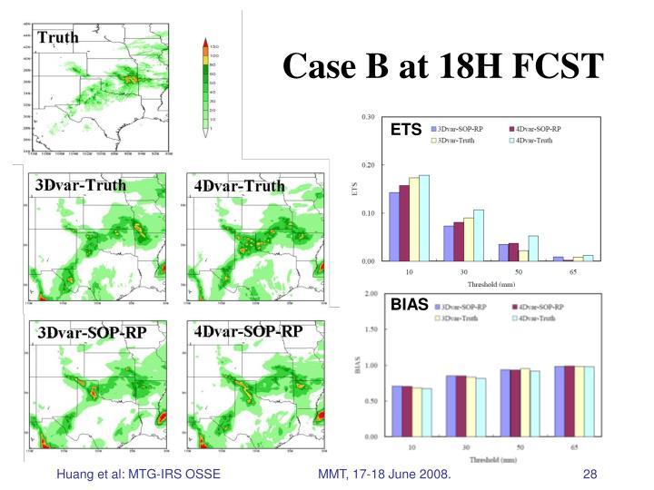 Case B at 18H FCST